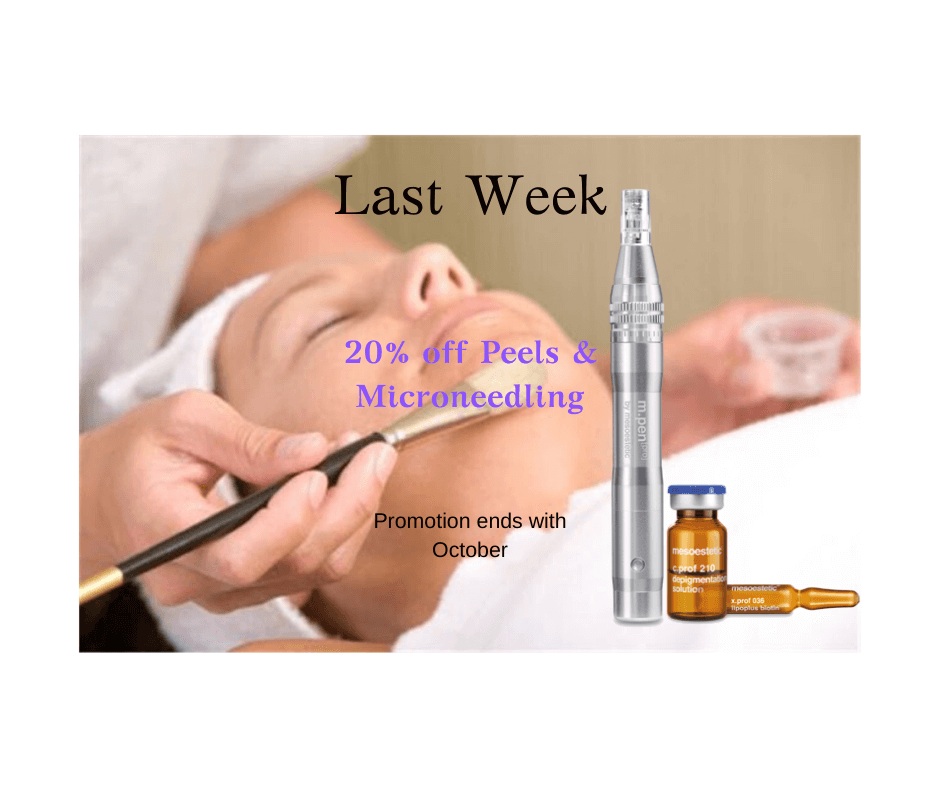 last week 20% off peels and microneedling