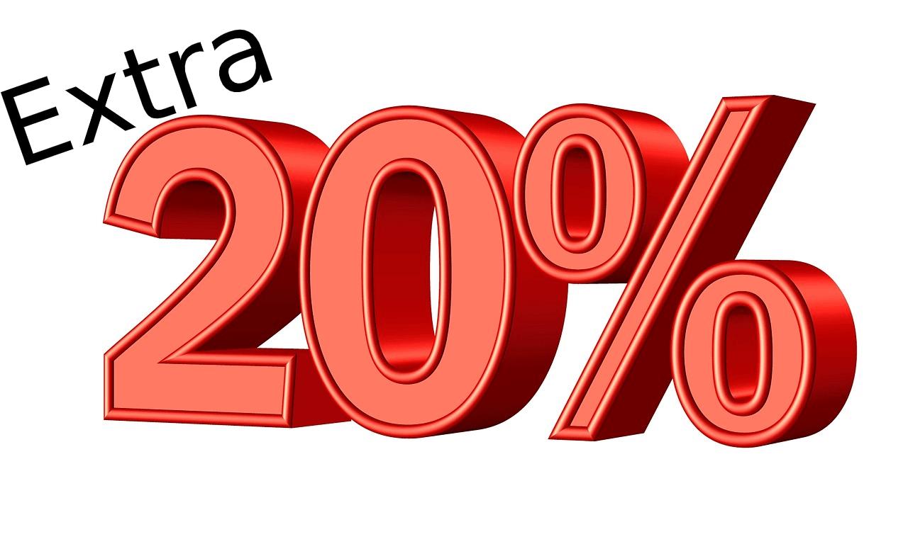 Until 27/July: 20% Gift Voucher Bonus